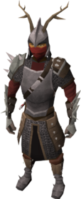 Vanguard armour set equipped