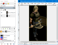 GIMP - layers window