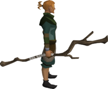 Slayer's staff equipped