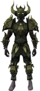 Malevolent armour set (barrows) equipped
