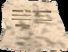 A scrap of paper detail
