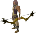Dark bow (yellow) equipped