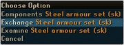 Exchange type armour