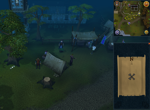 Compass clue Draynor south of Draynor Jail
