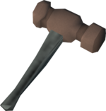 Sacred clay hammer detail