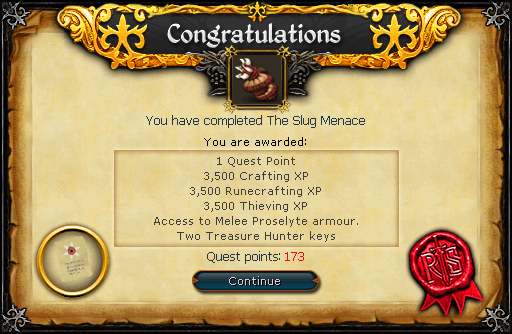 The Slug Menace reward