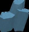Blue power crystal detail