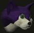 Pet cat (purple) chathead