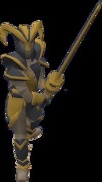 Grand knight statue