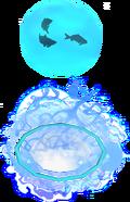 Divine fishing bubble detail