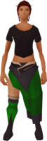Retro wolf-fur sarong