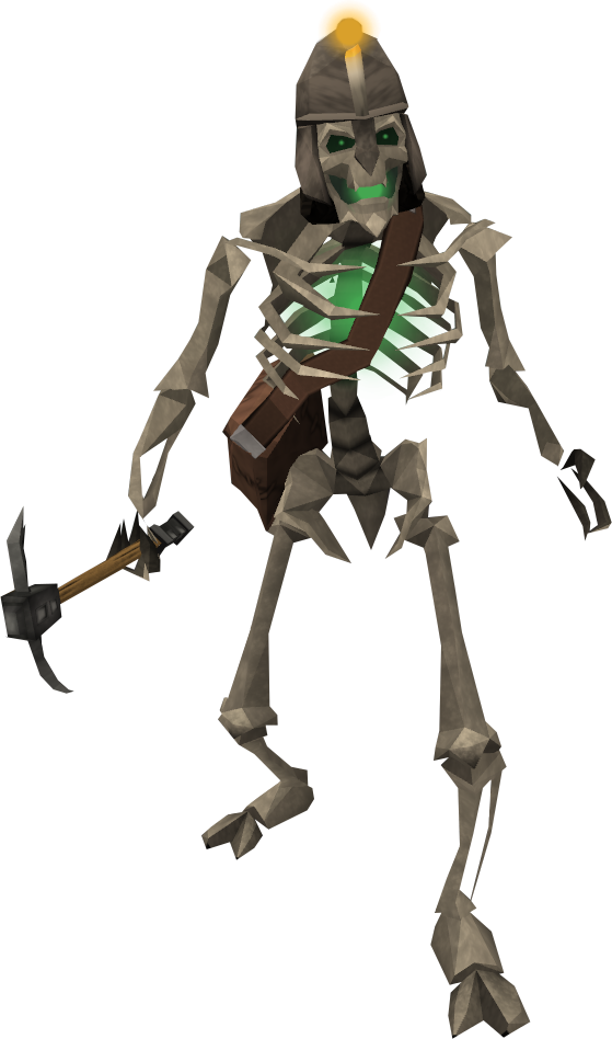 Skeletal Miner Runescape Wiki Fandom Powered By Wikia Twilight Princess Skeleton