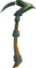 Gilded adamant pickaxe detail