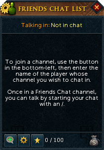 Friends Chat Menu