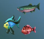 Aquarium fish concept art
