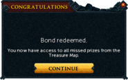 Redeemed a bond for Treasure Map Key