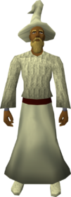 Cream robe set equipped