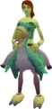 Terrorbird mount (green) equipped.png