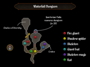 Waterfall Dungeon map