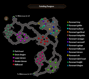 Forinthry Dungeon map