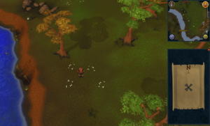 Compass clue Varrock east of sourthern mine