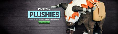 Pack Yak Plushie head banner