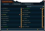 Clan list