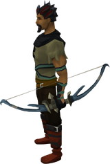Hexhunter bow equipped