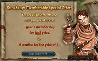 Membership offer advert