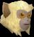 Baby monkey (beige) chathead