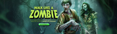Walk like a Zombie head banner