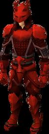 Een speler die een Dragon Chainbody draagt.