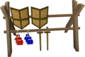 Weapons rack built