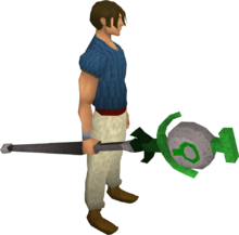 Nature talisman staff equipped