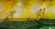 Raptor blocks dragonfire