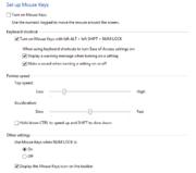 Mouse Keys Setup in Windows 8