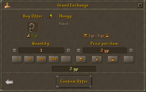 Thingy GE interface