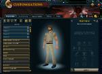 Customisations (Wardrobe) interface