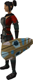 Broodoo shield (blue) equipped