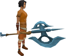 Rune halberd equipped