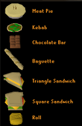 Sandwich lady food menu old