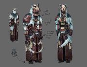 Shaman outfit concept art