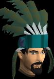 Feather headdress (stripy) chathead