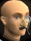 Monocle moustache nose chathead