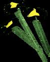 Black flowers detail