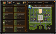 Clan Citadels interface Building tab