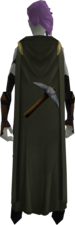 Mining cape equipped