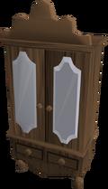 Mahogany wardrobe detail