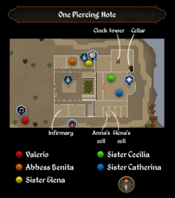One Piercing Note map