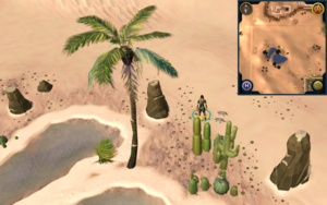 Scan clue Kharidian Desert north of oasis
